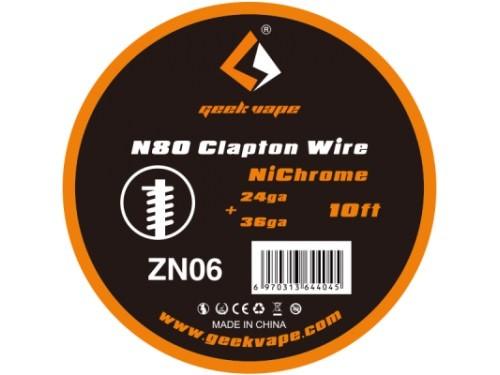 GeekVape N80 Clapton Wire 24ga+36ga